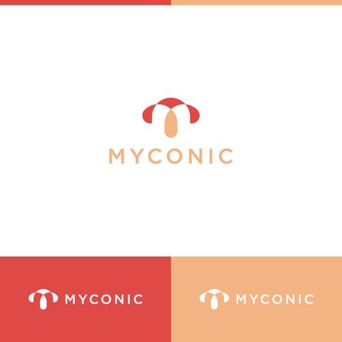 Combination mark logo design for Myconic