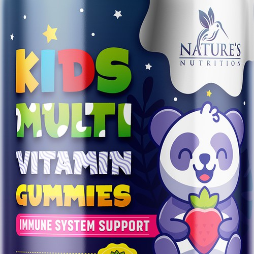 asty Kids Multivitamin Gummies Product Label for Nature's Nutrition
