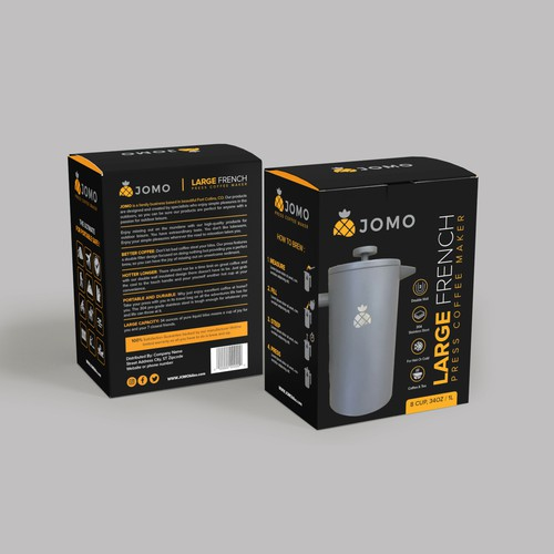 High End French Press Package Design