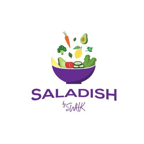 "Logo concept for ""Saladish"""