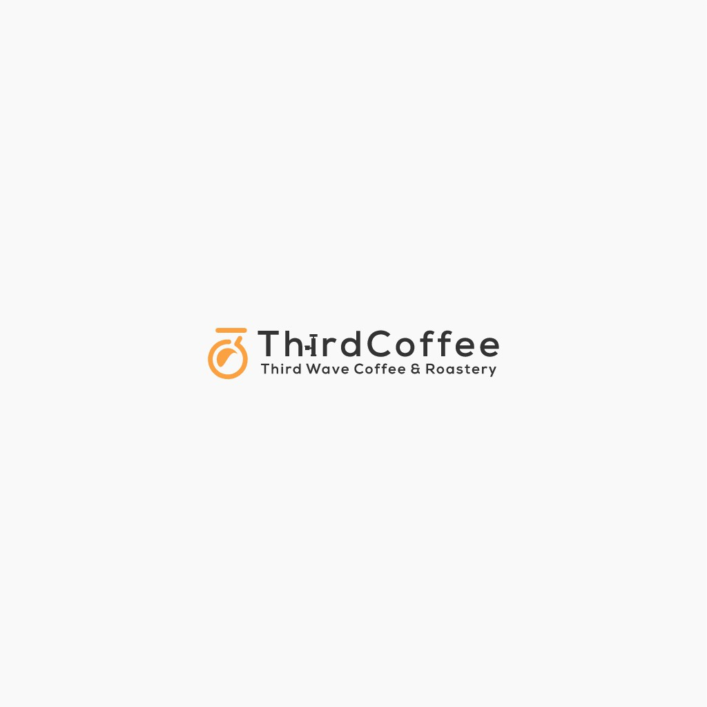 Iconic Logo for Third Coffee with Bicycle Pump