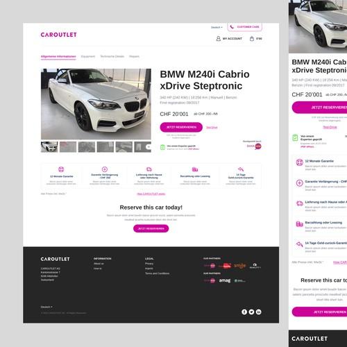 Caroutlet - Website Design