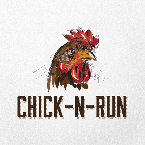 Artistic logo for chicken restaurant