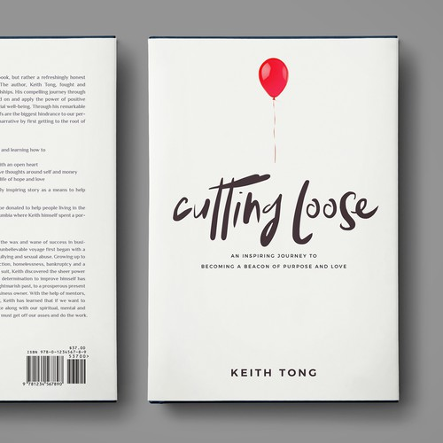 """Cutting Loose"" - book cover design"