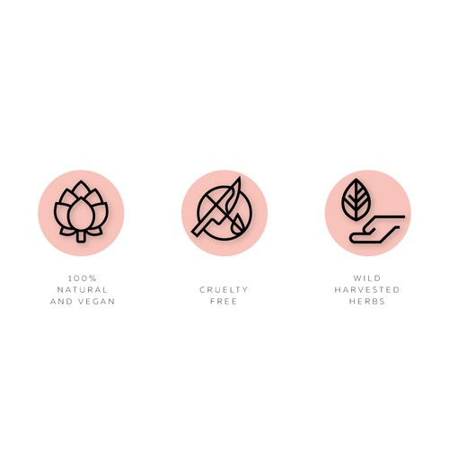 Icons for natural cosmetics brand