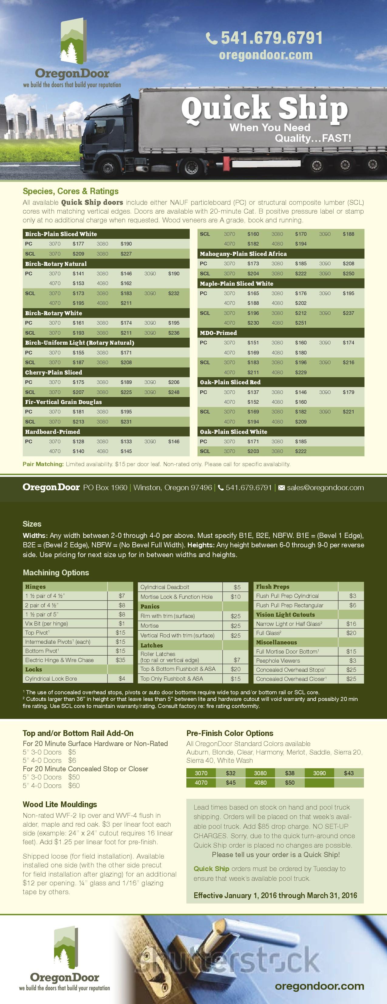Create attractive sales sheet/brochure for door company