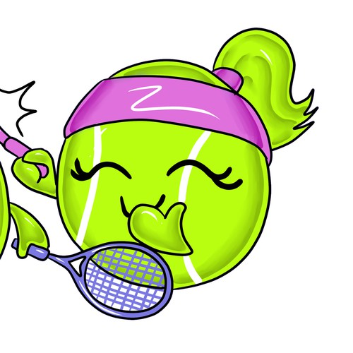 tennis cute character