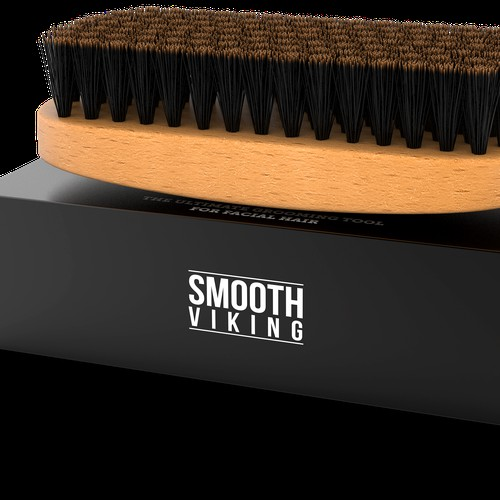 Smooth Viking Beard Brush 3D Render