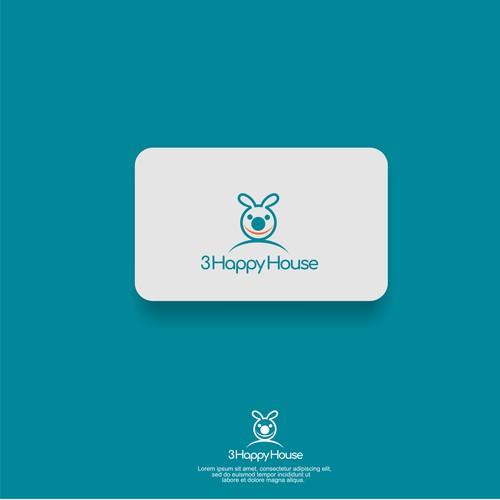 Design a versatile logo for 3 Happy House