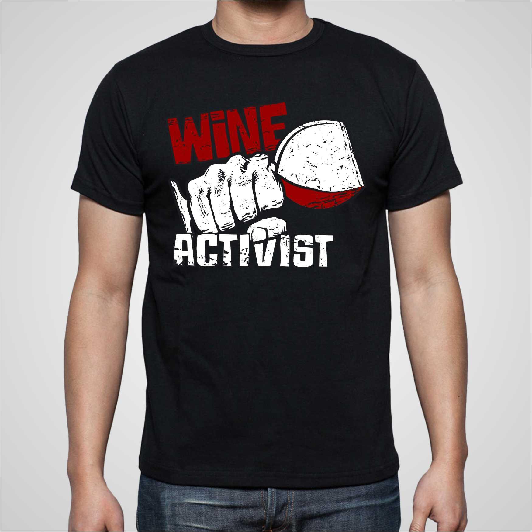 Wine Activist T-Shirt Design