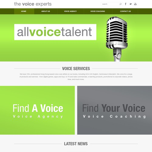 International Voiceover Agency design rebrand
