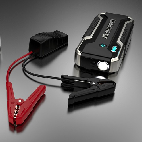 A multifunction portable jump starter.