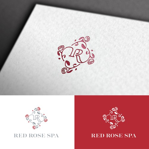 Red Rose Spa Logo Design