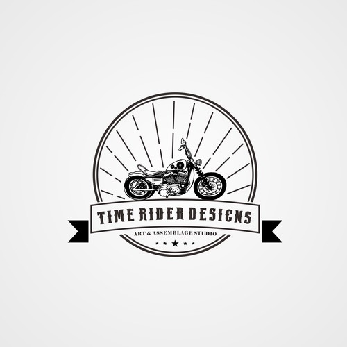 bold logo concept for time rider design