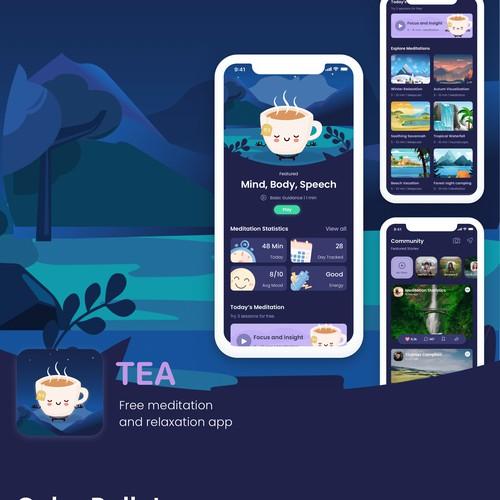 TEA Meditation-based social media (Night View)