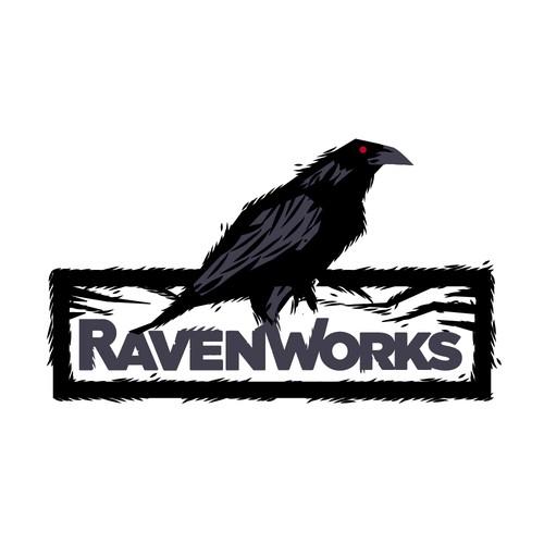 Bold logo for RavenWorks