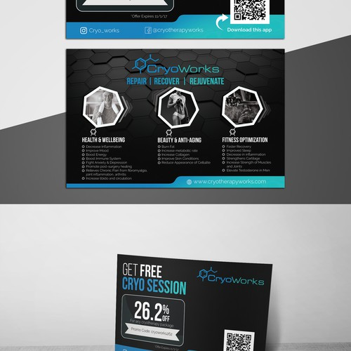 Cryotherapy Biz Needs Awesome Promo Post Card