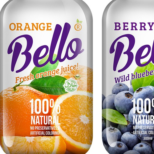 Label design for Juice