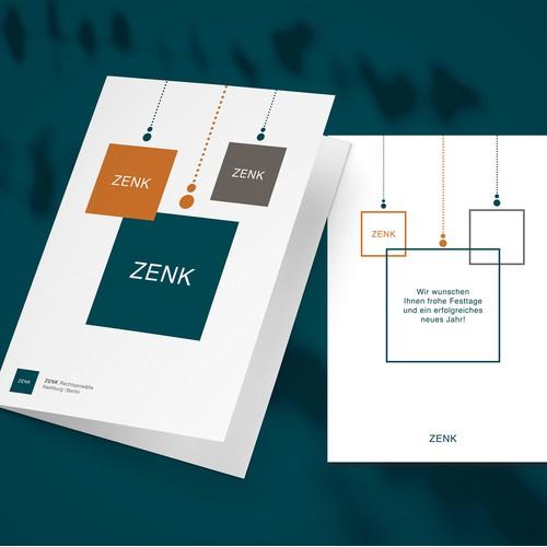 ZENK Corporate Christmas Card design