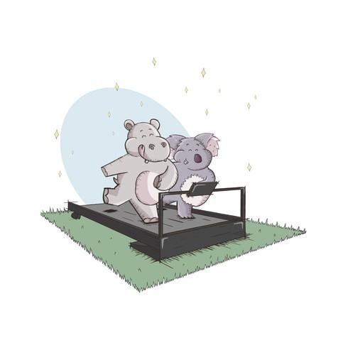 Hippo & koala
