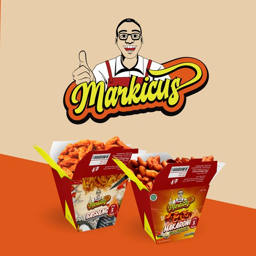 Logo & Package design for Markicus Snack