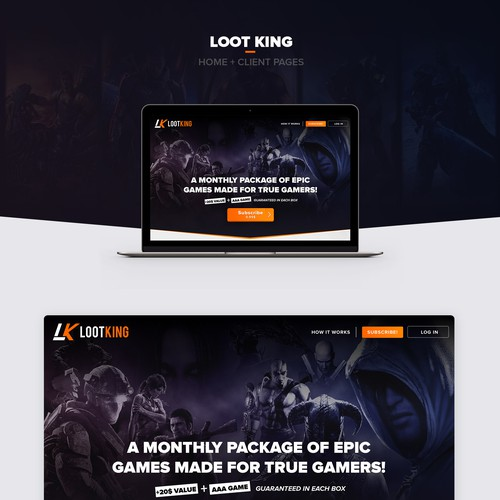 Bold gaming website design