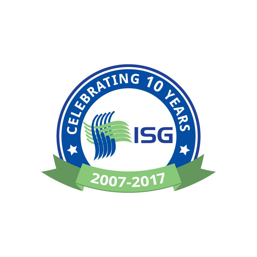 ISG 10 year anniversary badge