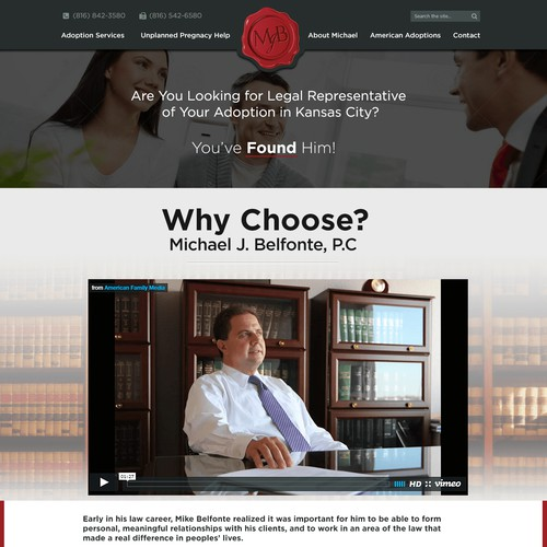 Lawyer WordPress Design