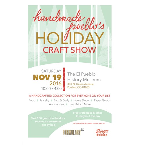 Poster for a Holiday Craft Show
