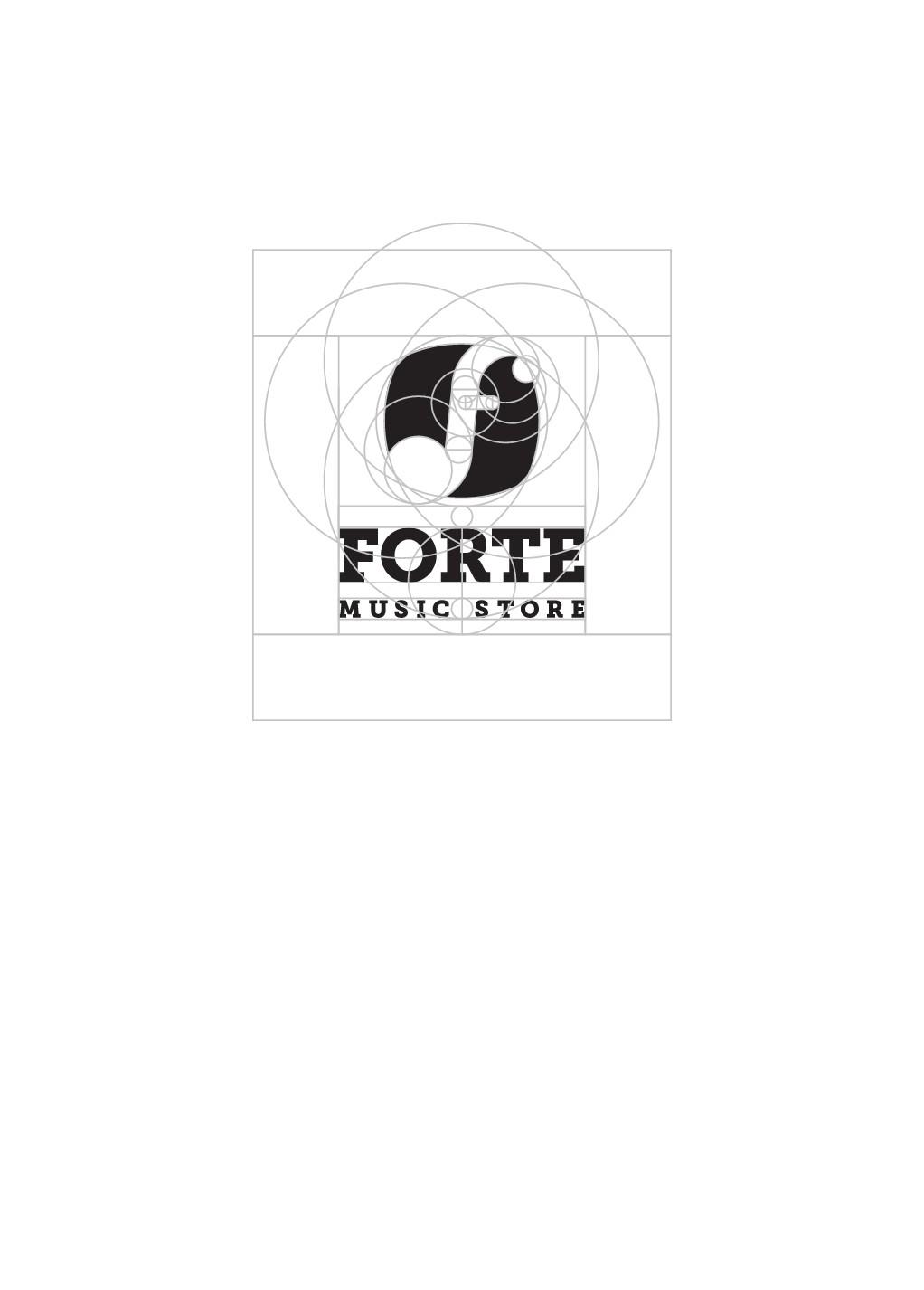 Design a modern-vintage logo for Forte Music Store