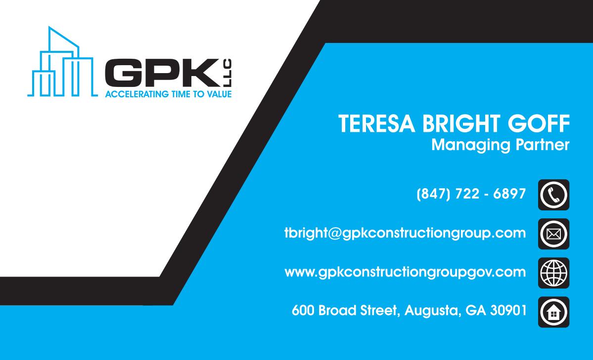 business card design for GPK LLC