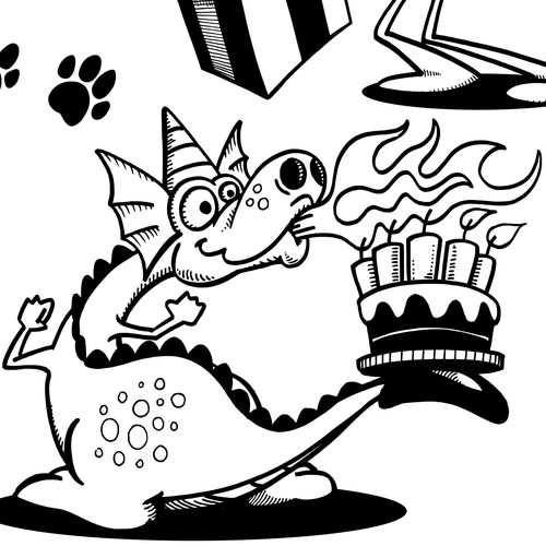 Dog, Flying Pig and Party Dragon