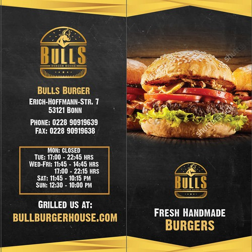 Bull's Burger House Menu