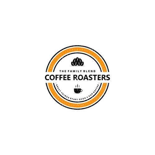 hipster logo for The Family Coffee