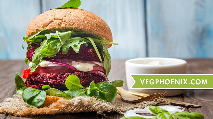 VegPhoenix Facebook cover and profile - promoting plant-based foods in Phoenix, AZ