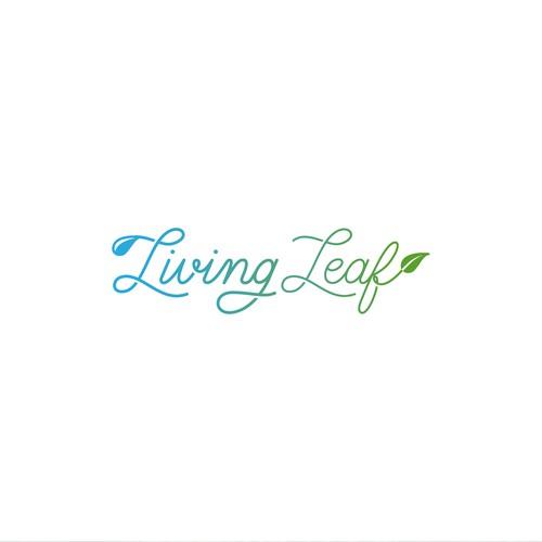 Living Leaf - Water Company Logo