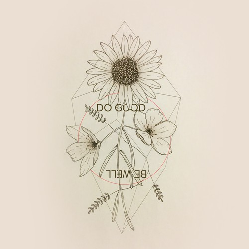 Handmade Floral Tattoo