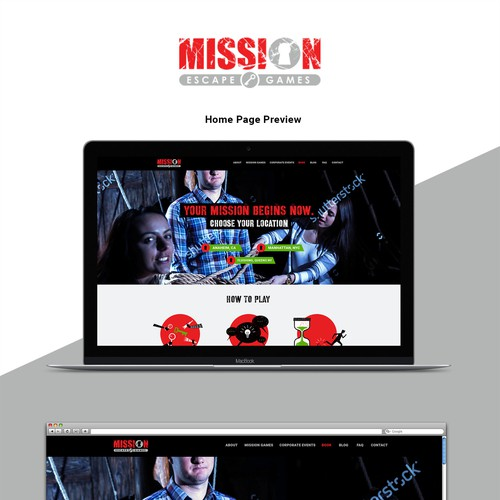 Game Room web siteconcept