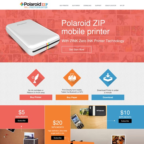 Mobile Printer - Print your pictures anywhere you go with your mobile device!