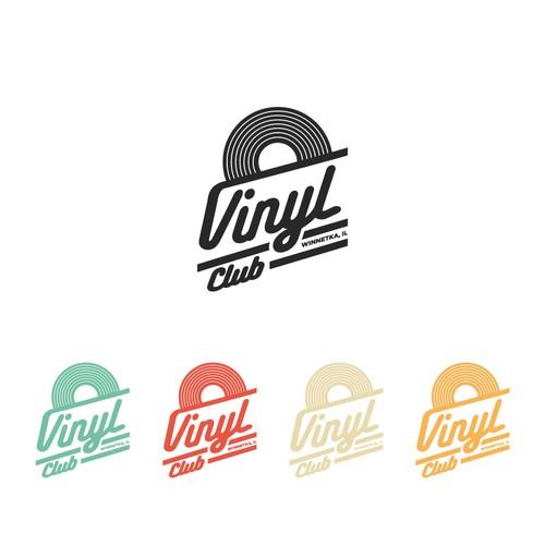 Vintage logo for Vinyl Club