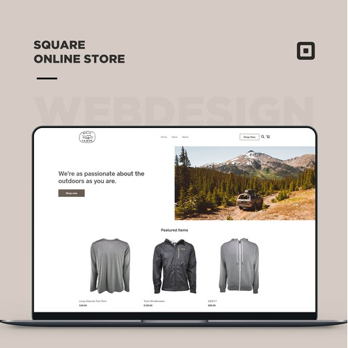 Square online store for an outdoor clothing retailer