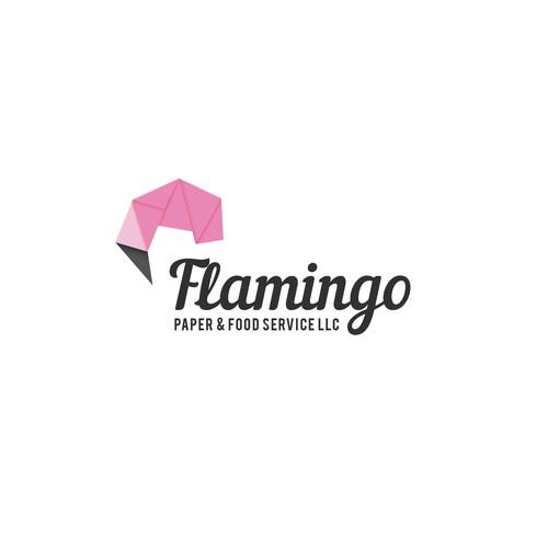 Logo design concept for Flamingo Paper Services