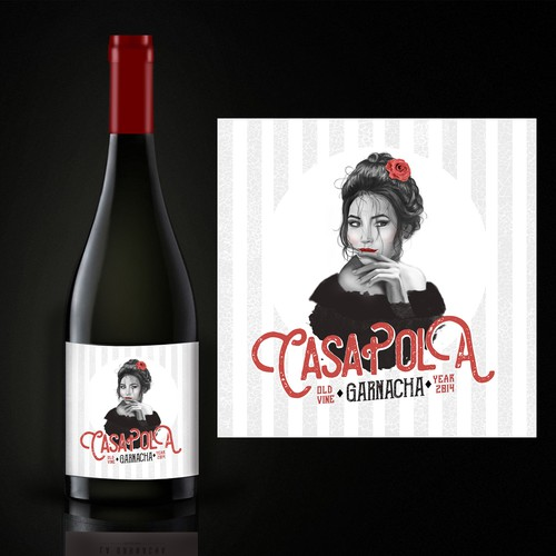 Casa Pola illustration &label design