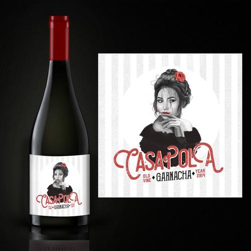 Casa Pola illustration &label design
