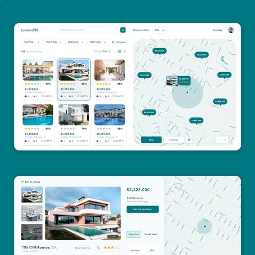 Clean modern Real Estate Searching Platform