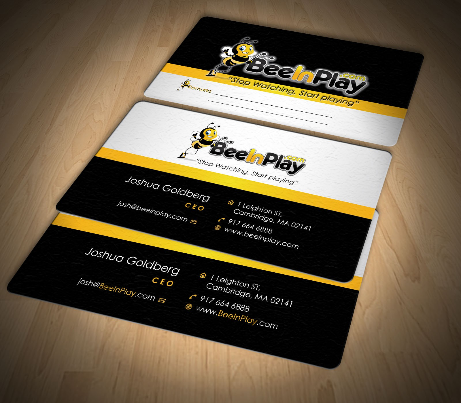 Help BeeInPlay with a Business Card