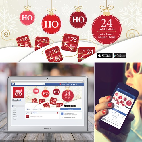 Christmas Facebook Cover for Scondoo