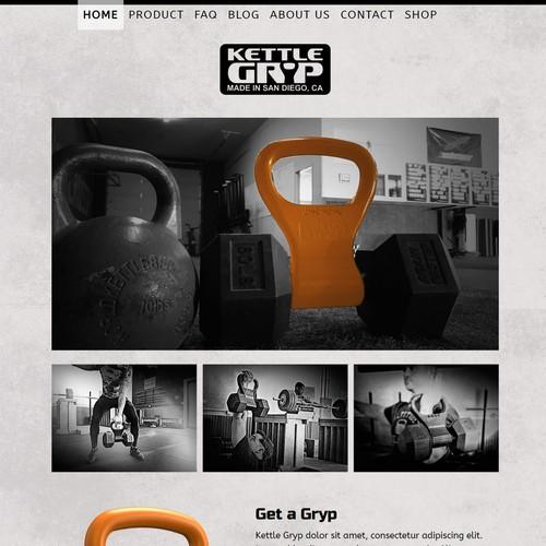 Website design for a new innovative fitness equipment