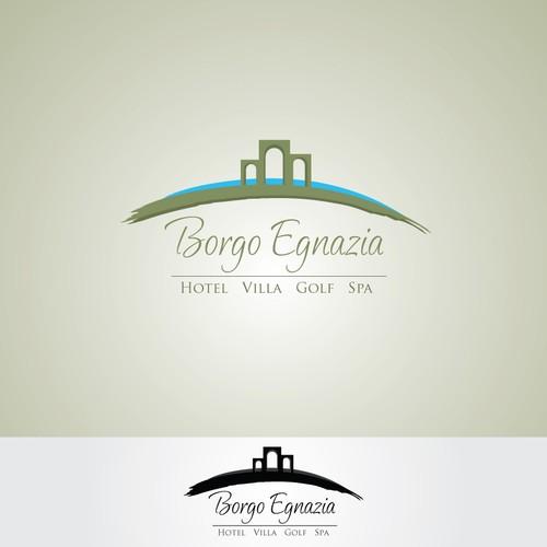 Modern but elegant logo for luxury resort in Italy