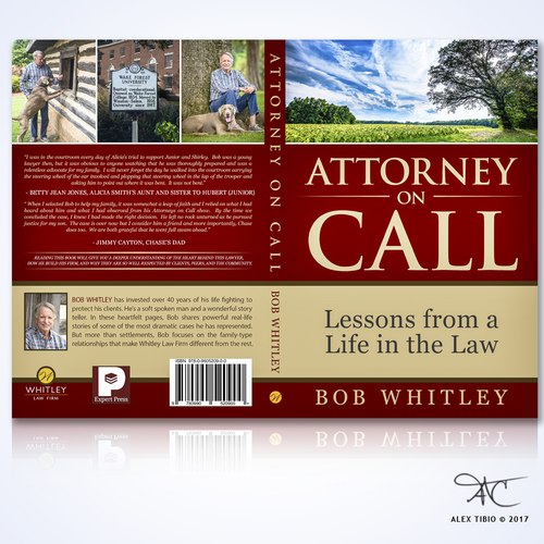 "Full book Cover Design for Bob Whitley's "" Attorney on Call"""